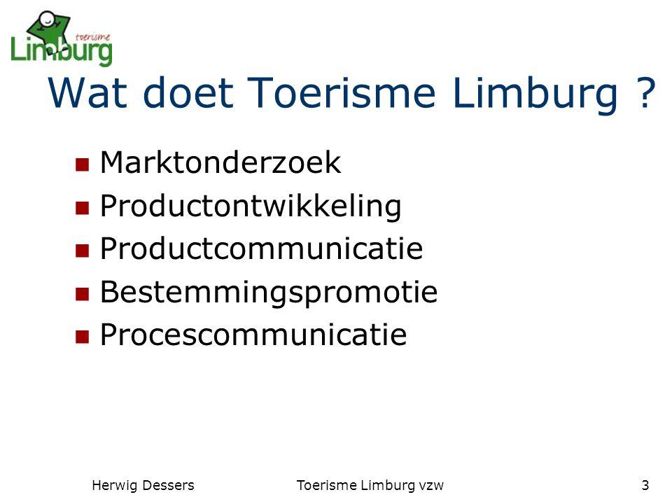 Herwig DessersToerisme Limburg vzw3 Wat doet Toerisme Limburg .
