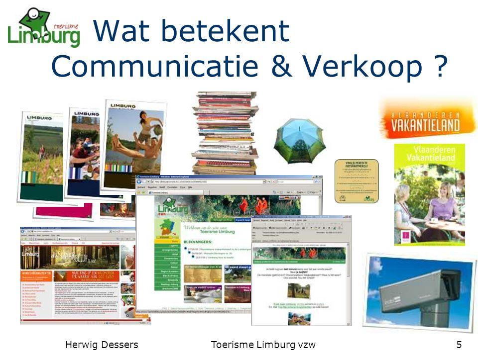 Herwig DessersToerisme Limburg vzw5 Wat betekent Communicatie & Verkoop