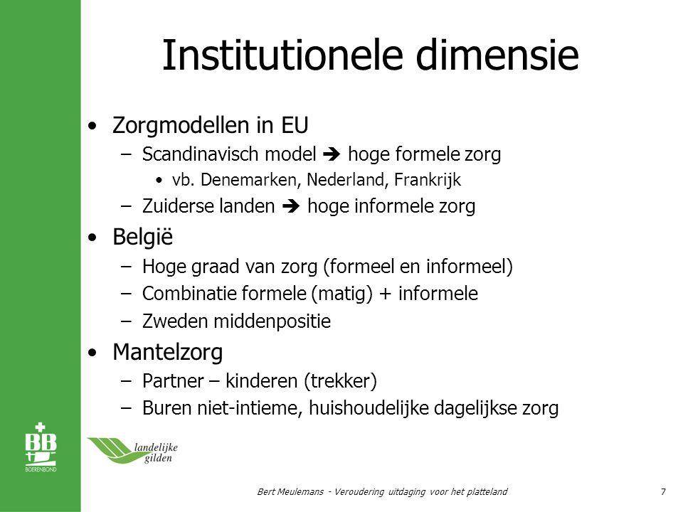 Rusthuisbedden % 80+ Bert Meulemans - Veroudering uitdaging voor het platteland8
