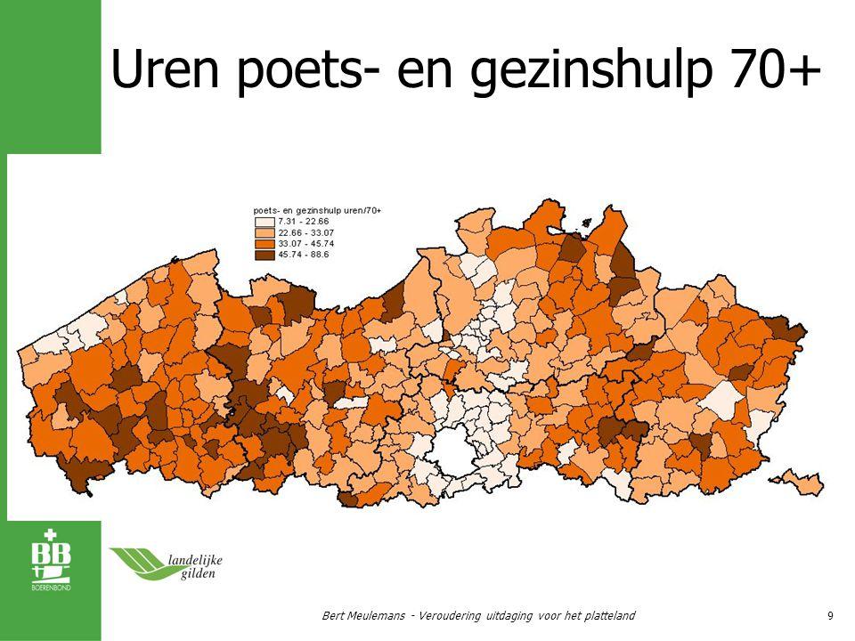 Centra voor dagverzorging en kortverblijf als ‰ 80+ Bert Meulemans - Veroudering uitdaging voor het platteland10