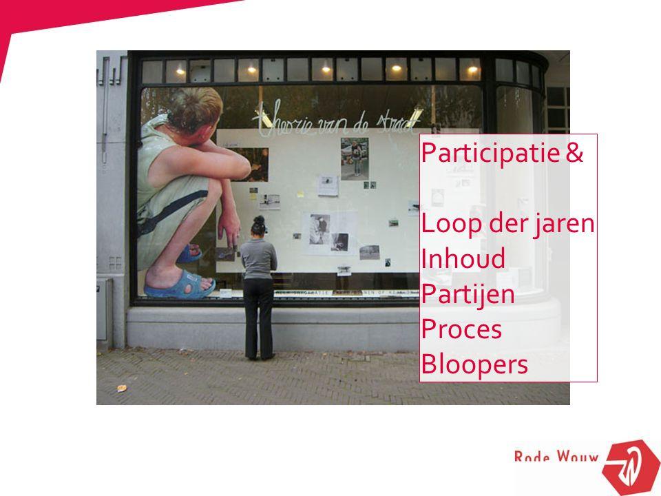 Participatie & Loop der jaren Inhoud Partijen Proces Bloopers