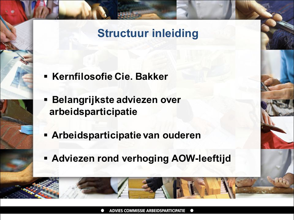 Structuur inleiding  Kernfilosofie Cie.