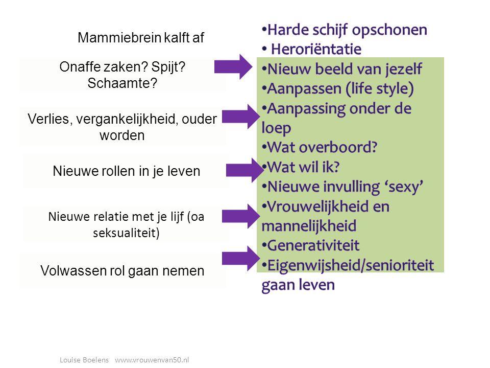 Louise Boelens www.vrouwenvan50.nl Onaffe zaken. Spijt.