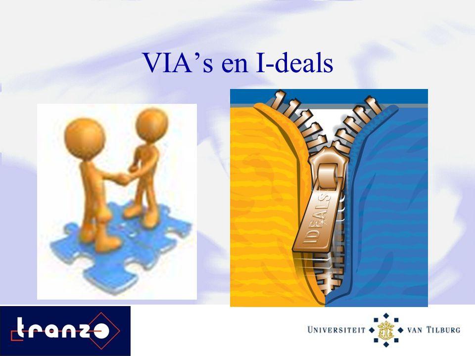 VIA's en I-deals