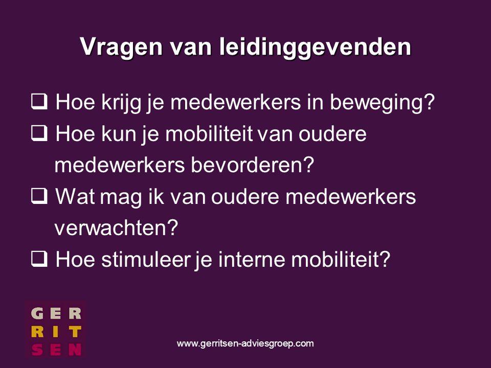 www.gerritsen-adviesgroep.com Vragen van leidinggevenden  Hoe krijg je medewerkers in beweging.