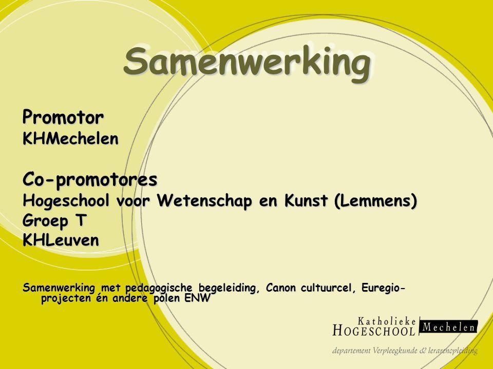 PromotorKHMechelenCo-promotores Hogeschool voor Wetenschap en Kunst (Lemmens) Groep T KHLeuven Samenwerking met pedagogische begeleiding, Canon cultuu