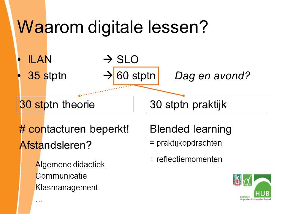 Hoe digitale les opvatten? ± begeleide zelfstudie –Les  PPT