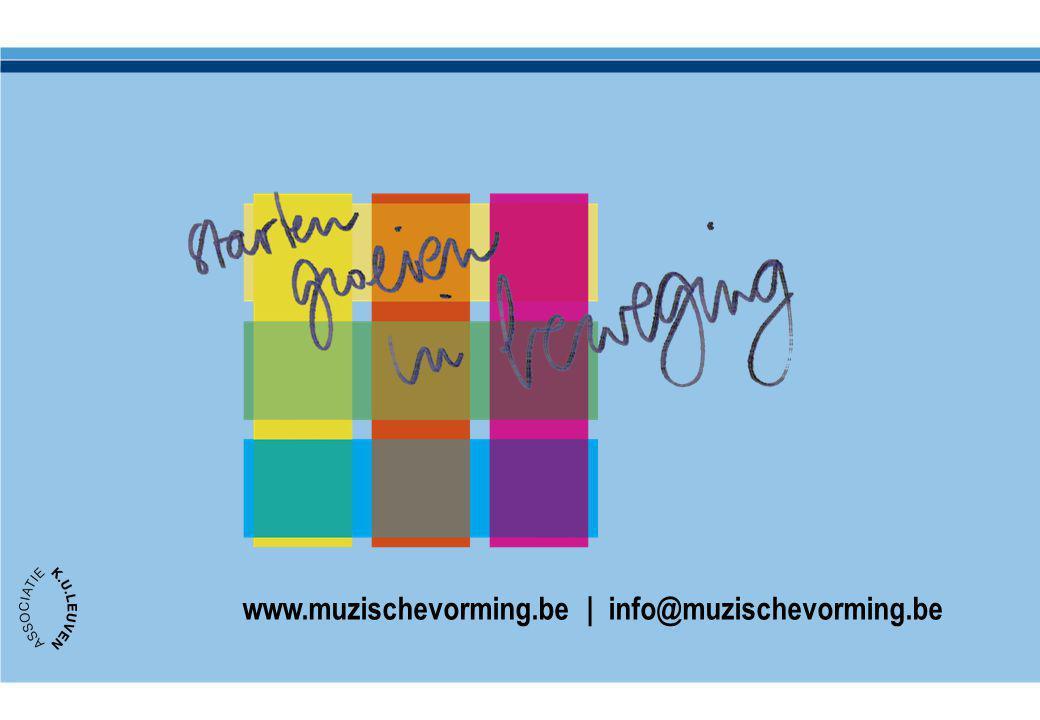 www.muzischevorming.be | info@muzischevorming.be