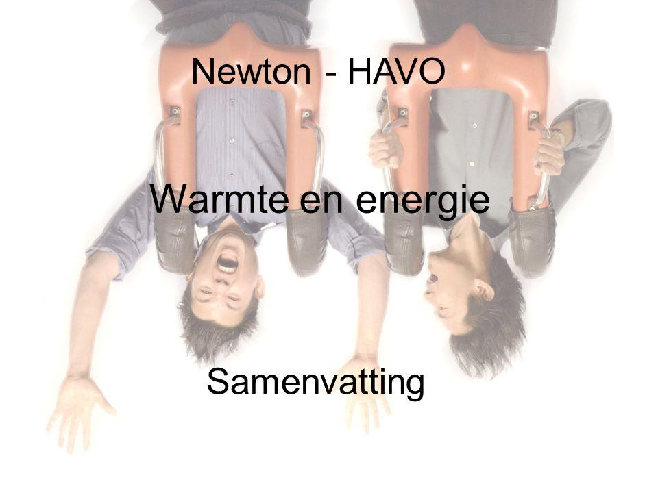 Newton - HAVO Warmte en energie Samenvatting