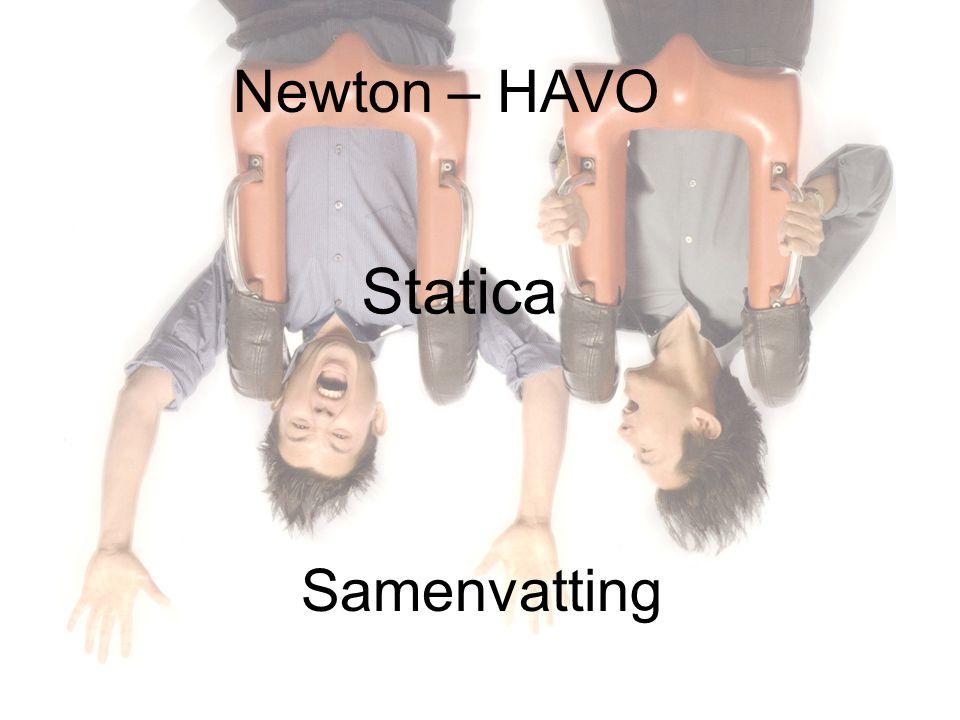 Newton – HAVO Statica Samenvatting