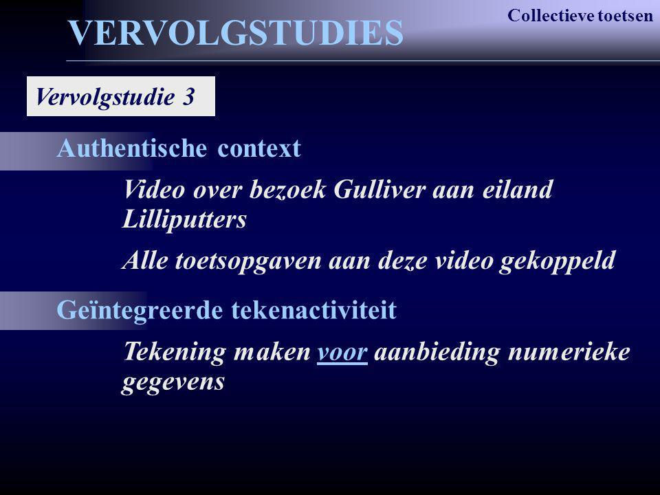 Authentische context Video over bezoek Gulliver aan eiland Lilliputters Alle toetsopgaven aan deze video gekoppeld Geïntegreerde tekenactiviteit Teken