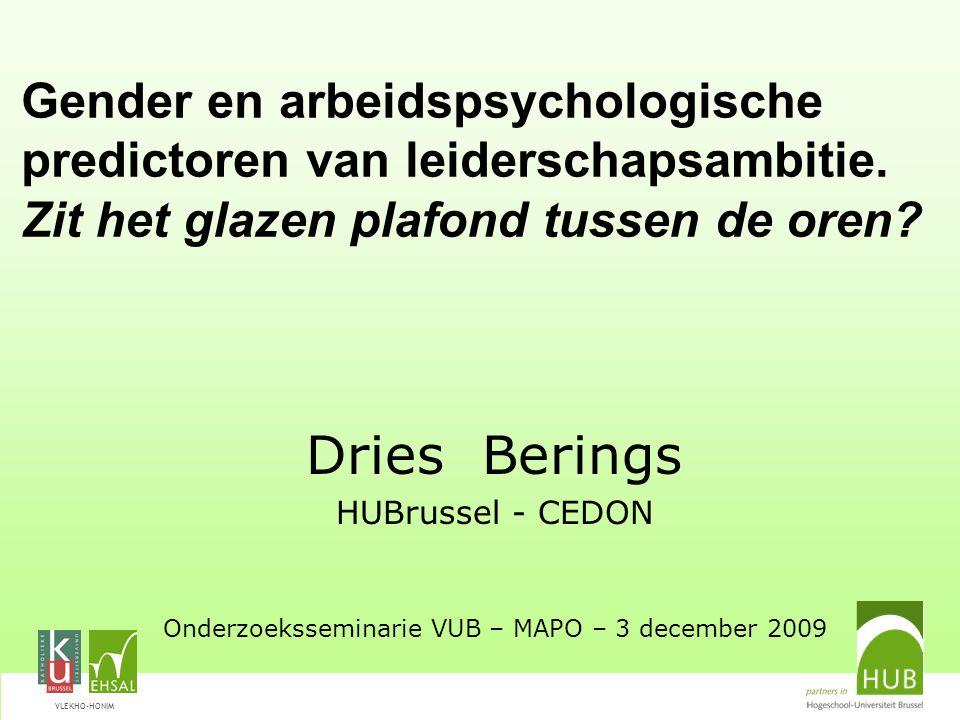 VLEKHO-HONIM Gender en arbeidspsychologische predictoren van leiderschapsambitie.