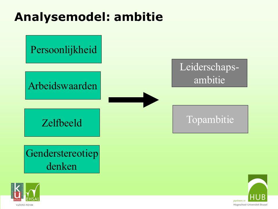 VLEKHO-HONIM Ambitie Topambitie Hoe aantrekkelijk vind je de volgende functies...