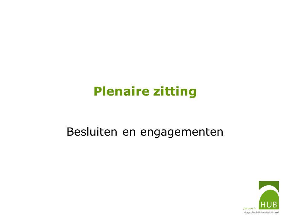 Plenaire zitting Besluiten en engagementen