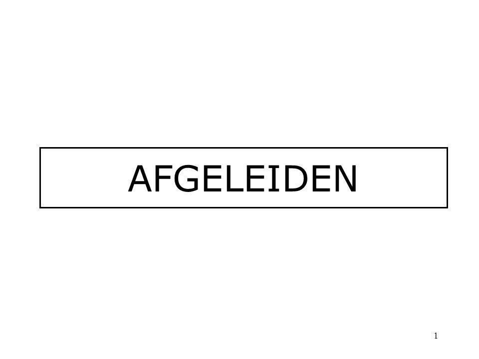 AFGELEIDEN 1