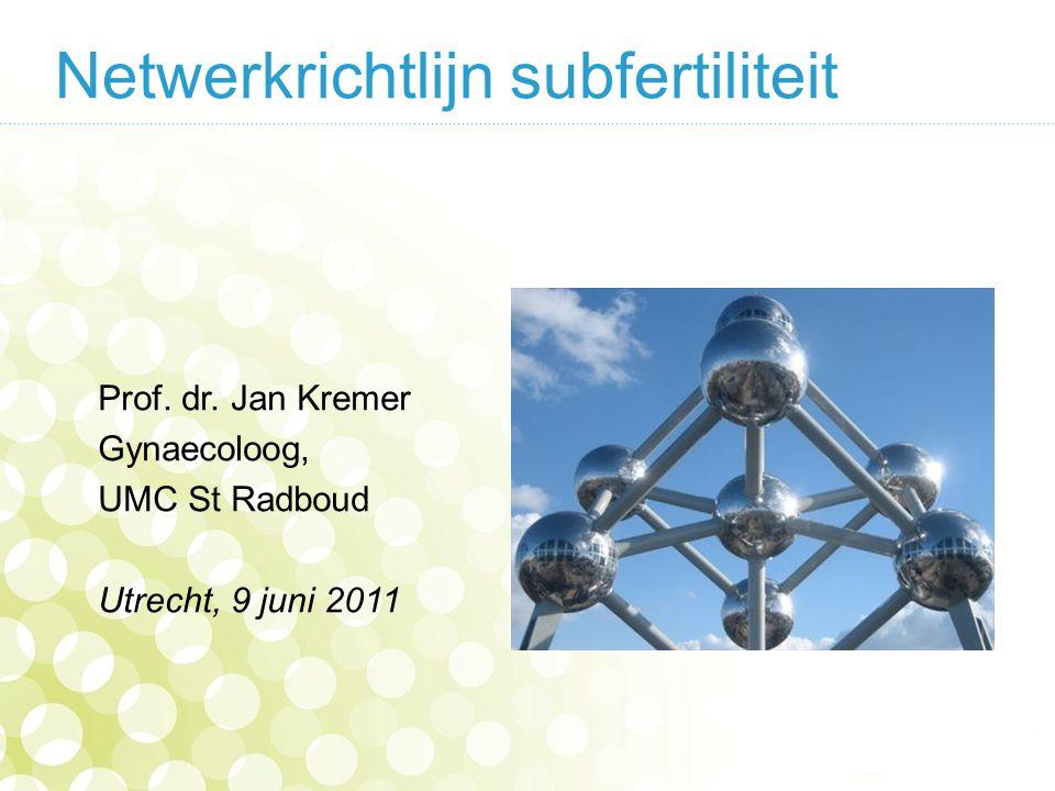 Netwerkrichtlijn subfertiliteit Prof.dr.