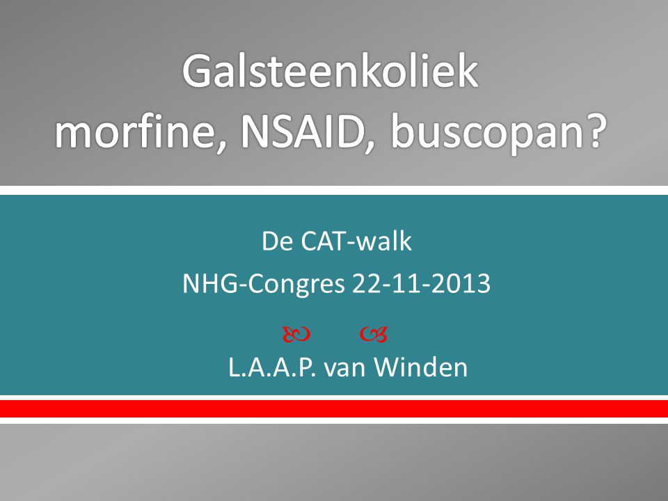  De CAT-walk NHG-Congres 22-11-2013 L.A.A.P. van Winden