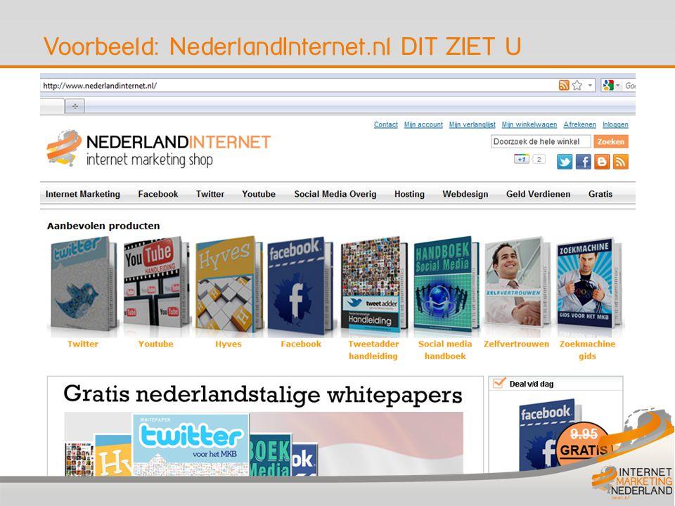 Voorbeeld: NederlandInternet.nl DIT ZIET U 6
