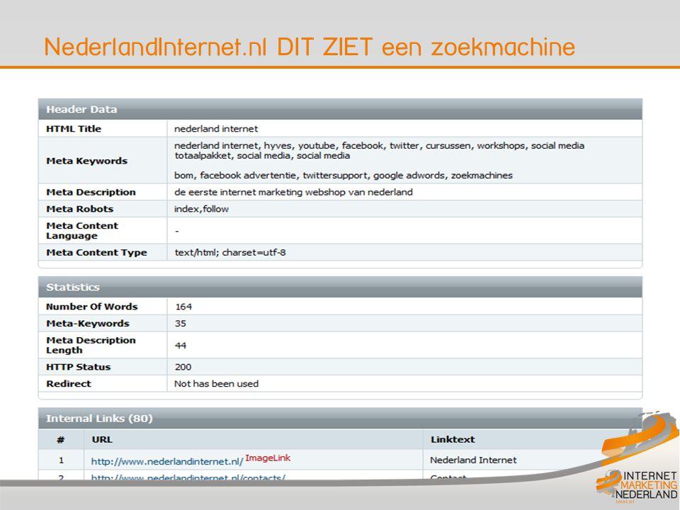 NederlandInternet.nl DIT ZIET een zoekmachine 7