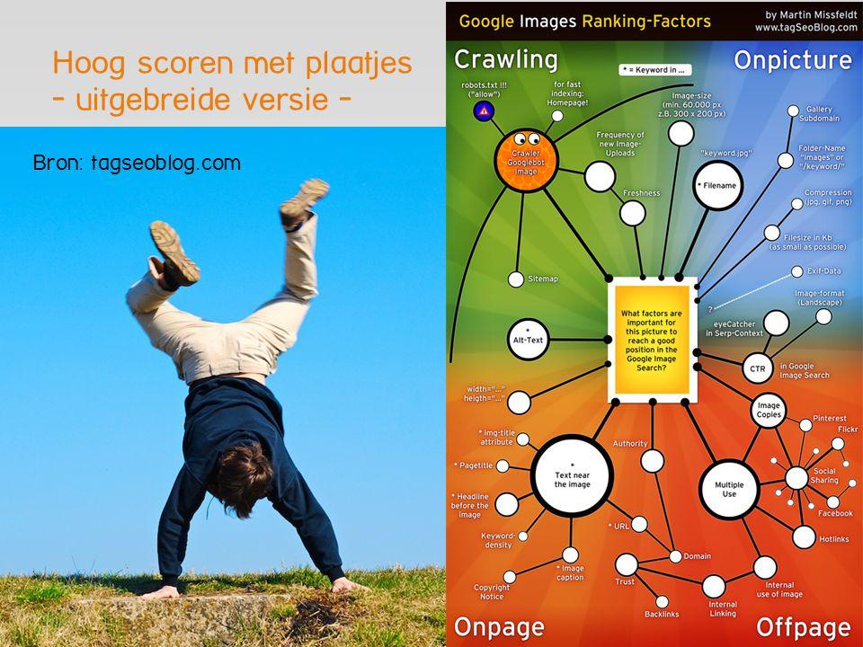 Hoog scoren met plaatjes - uitgebreide versie - Bron: tagseoblog.com