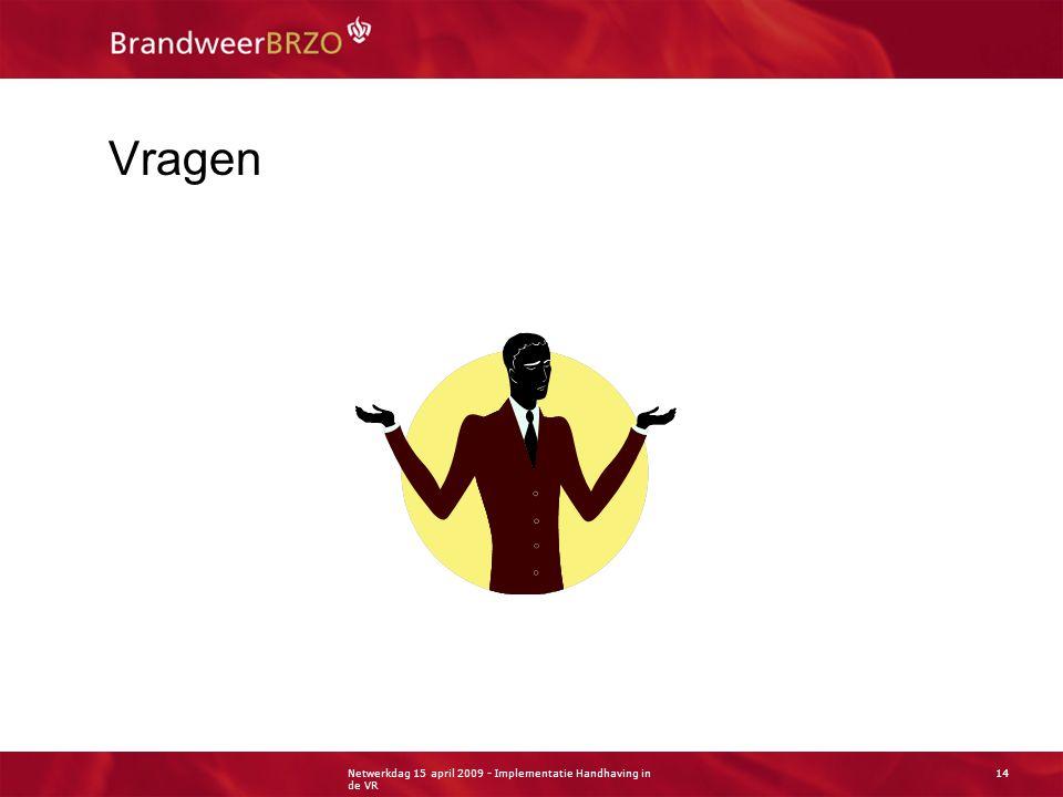 Netwerkdag 15 april 2009 - Implementatie Handhaving in de VR 14 Vragen