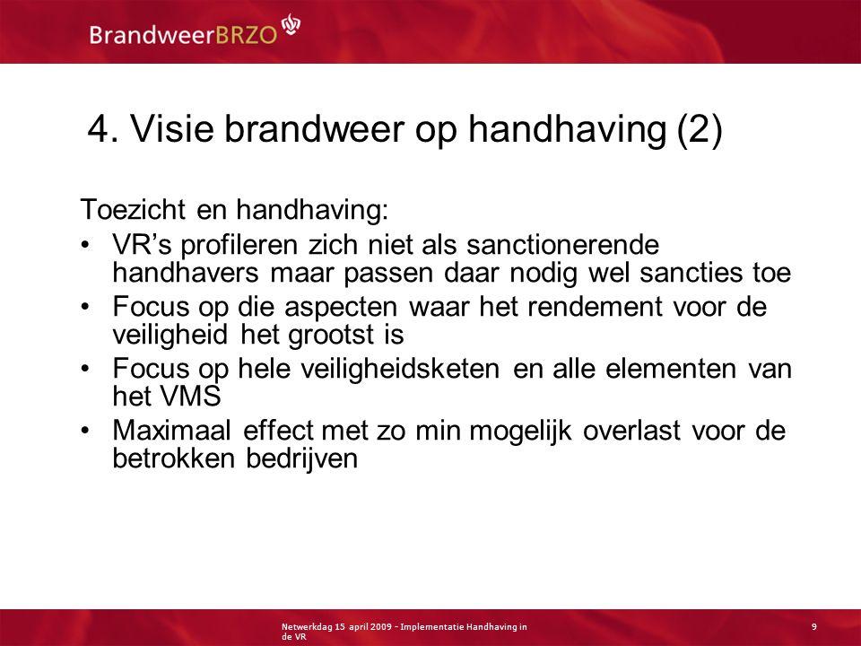 Netwerkdag 15 april 2009 - Implementatie Handhaving in de VR 10 4.
