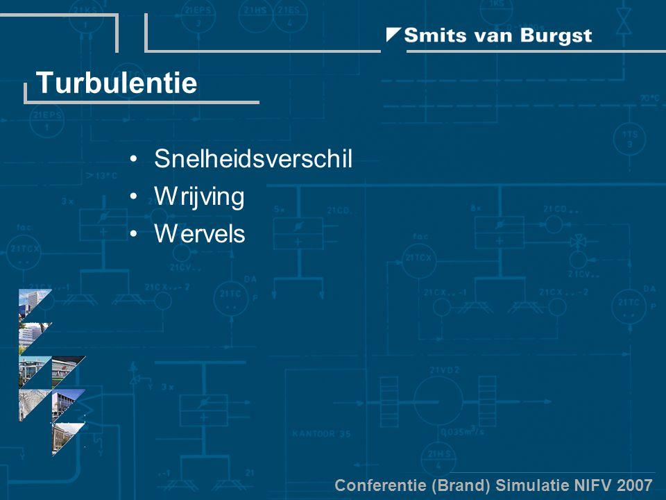 Conferentie (Brand) Simulatie NIFV 2007 Turbulentie Snelheidsverschil Wrijving Wervels