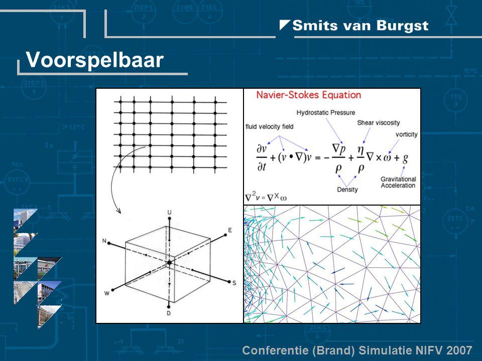 Conferentie (Brand) Simulatie NIFV 2007 Voorspelbaar
