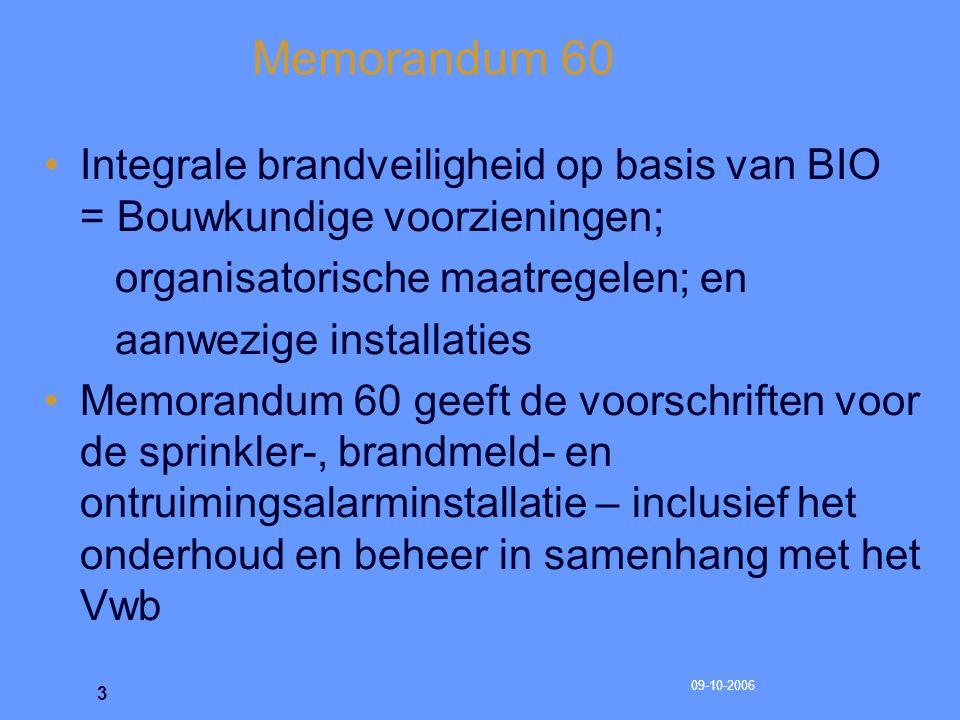 09-10-2006 4 Memorandum 60 Aanvulling op de VAS, voor een specifiek toepassingsgebied Memorandum 54  Memorandum 60 Realiseren nul-effect als bedoeld in het Vuurwerkbesluit