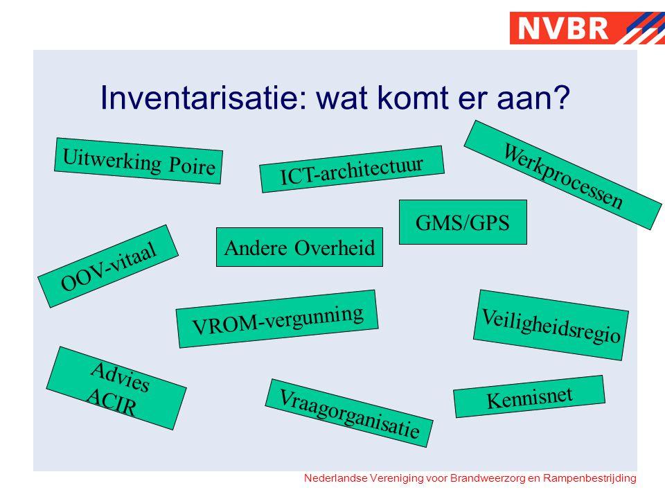 Nederlandse Vereniging voor Brandweerzorg en Rampenbestrijding Inventarisatie: wat komt er aan.