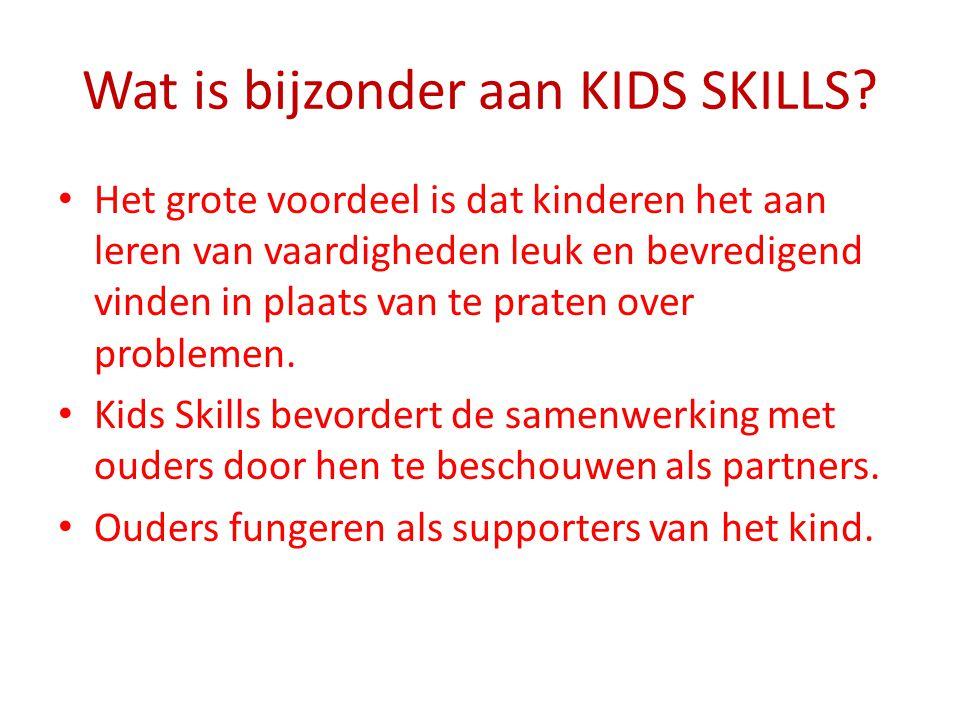 Wat is bijzonder aan KIDS SKILLS? Het grote voordeel is dat kinderen het aan leren van vaardigheden leuk en bevredigend vinden in plaats van te praten