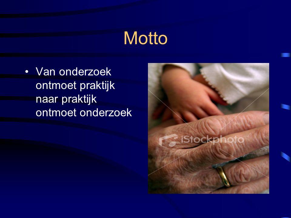 Motto Van onderzoek ontmoet praktijk naar praktijk ontmoet onderzoek
