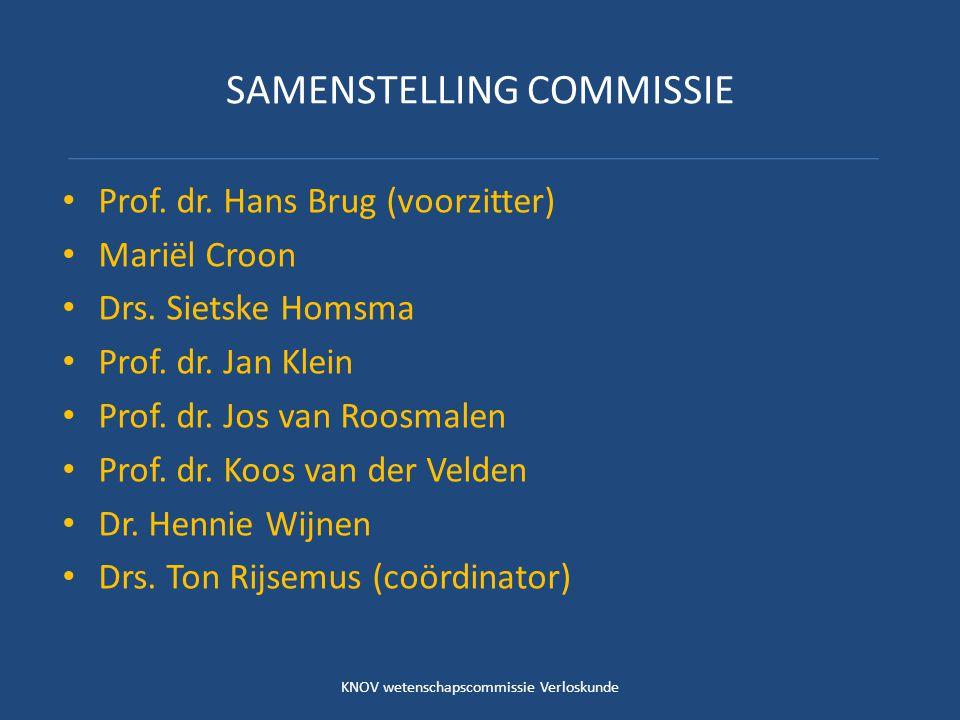SAMENSTELLING COMMISSIE Prof. dr. Hans Brug (voorzitter) Mariël Croon Drs.