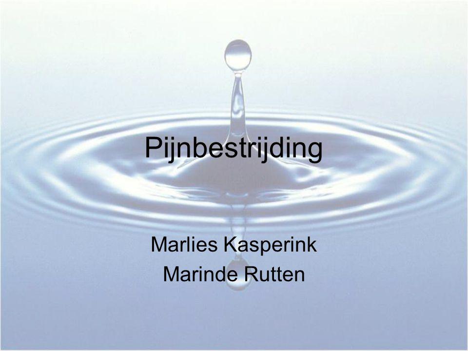 Pijnbestrijding Marlies Kasperink Marinde Rutten