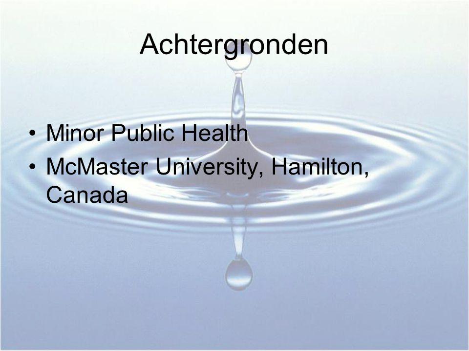 Achtergronden Minor Public Health McMaster University, Hamilton, Canada