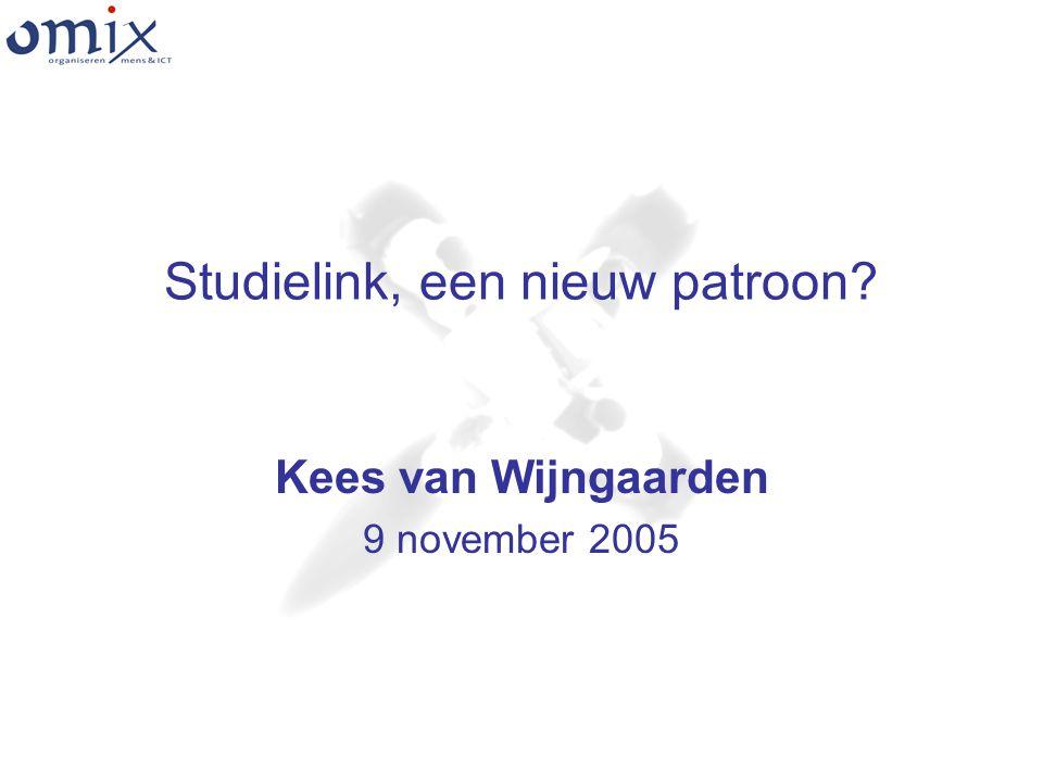 Studielink, een nieuw patroon Kees van Wijngaarden 9 november 2005