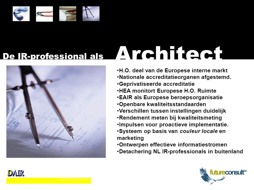 Architect De IR-professional als H.O.