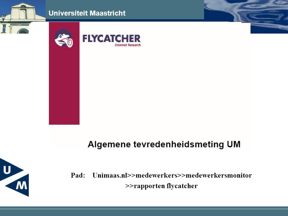 Pad: Unimaas.nl>>medewerkers>>medewerkersmonitor >>rapporten flycatcher