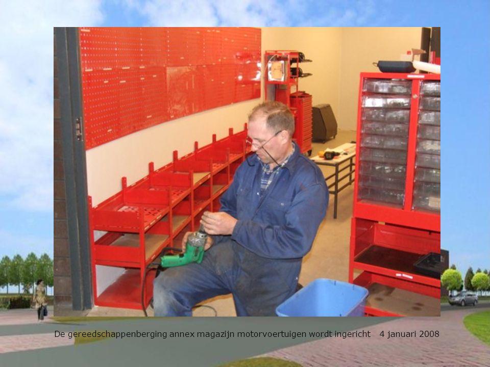 Het mobiele materiaal moet nog een plekje krijgen 4 januari 2008