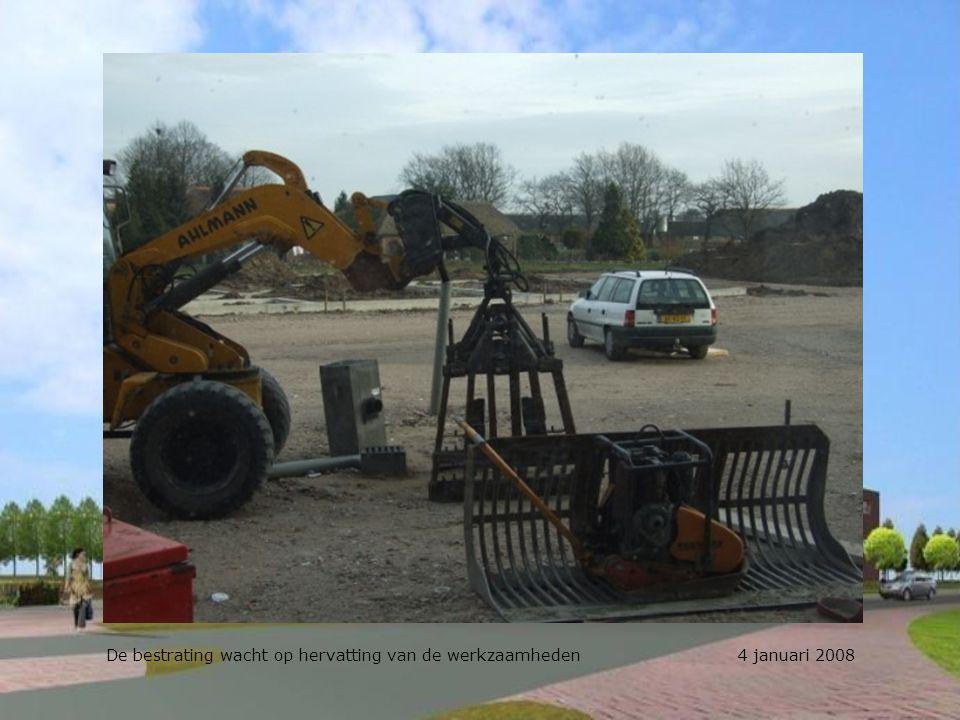 De werkruimte van Landbouw breed wordt tijdelijk gebruikt als opslag 4 januari 2008