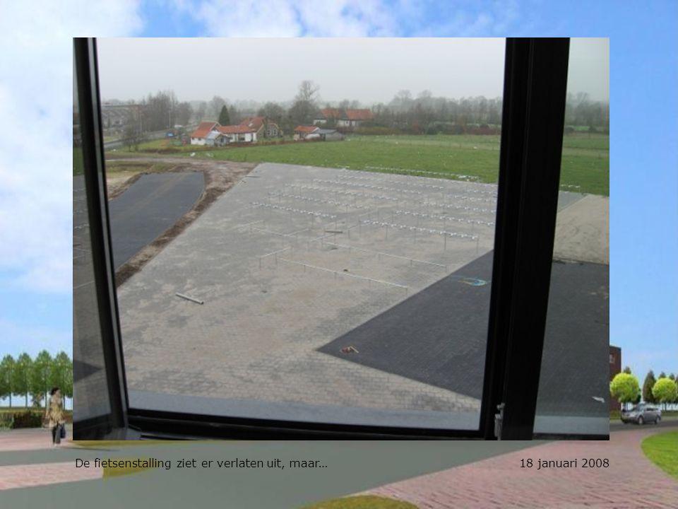 De fietsenstalling ziet er verlaten uit, maar… 18 januari 2008