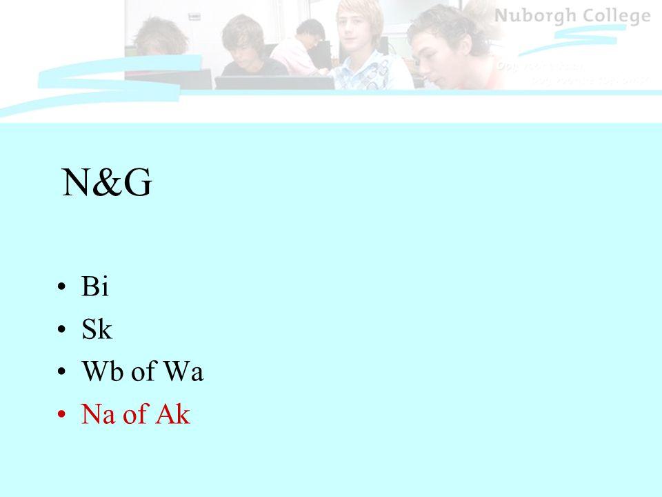N&G Bi Sk Wb of Wa Na of Ak