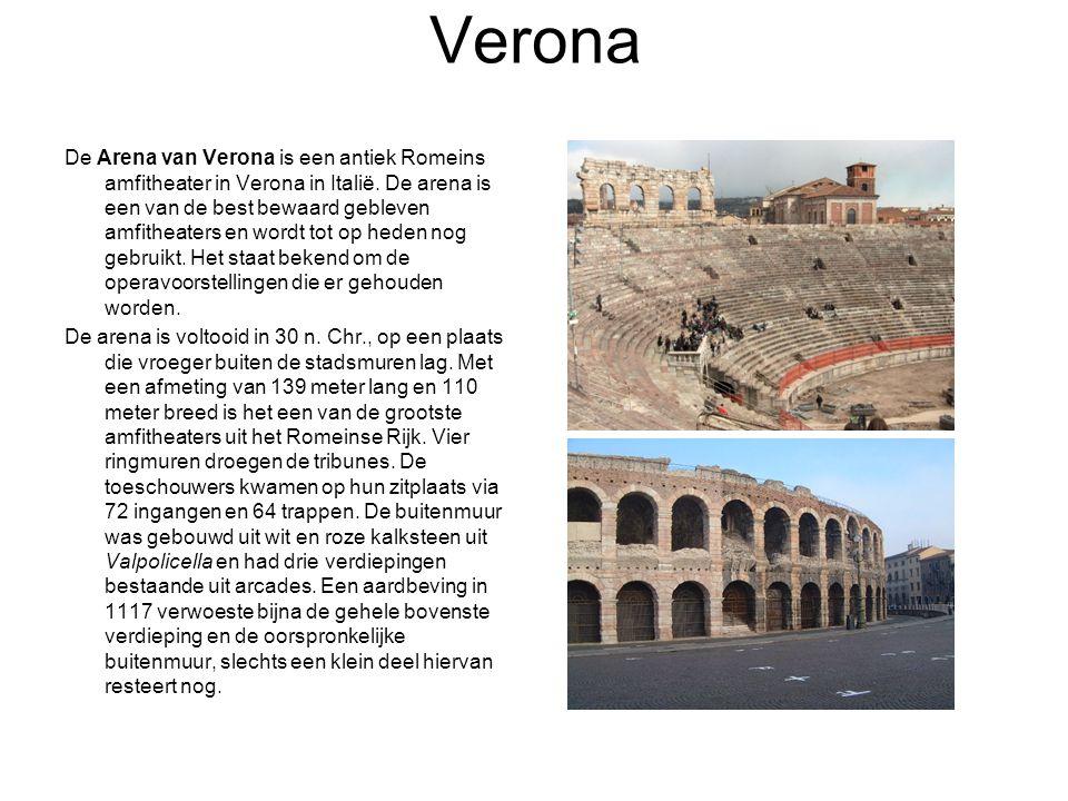 Verona De Arena van Verona is een antiek Romeins amfitheater in Verona in Italië.