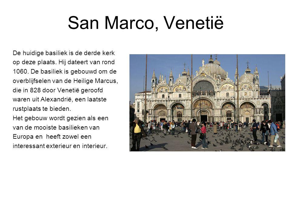 San Marco, Venetië De huidige basiliek is de derde kerk op deze plaats.