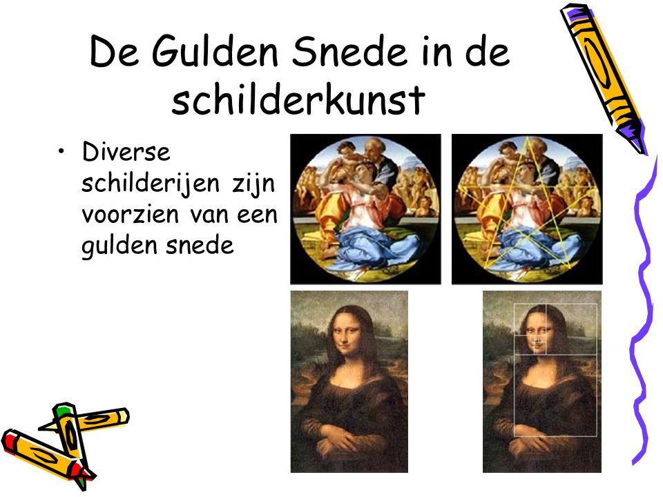 De Gulden Snede in de schilderkunst Diverse schilderijen zijn voorzien van een gulden snede
