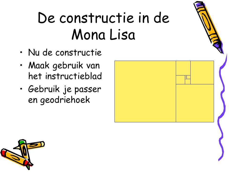 Nu de constructie Maak gebruik van het instructieblad Gebruik je passer en geodriehoek