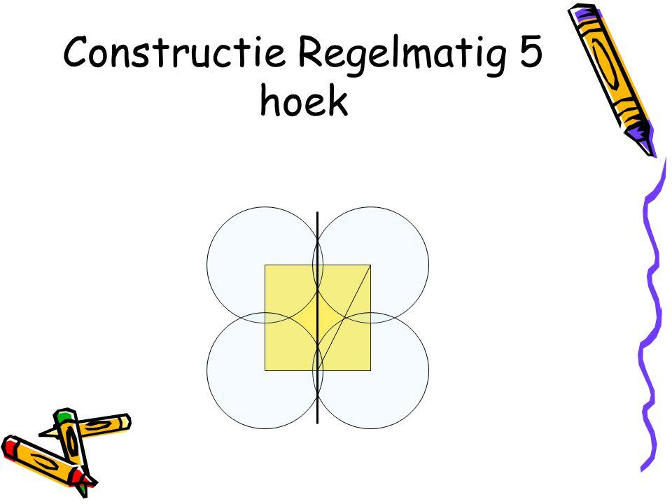 Constructie Regelmatig 5 hoek