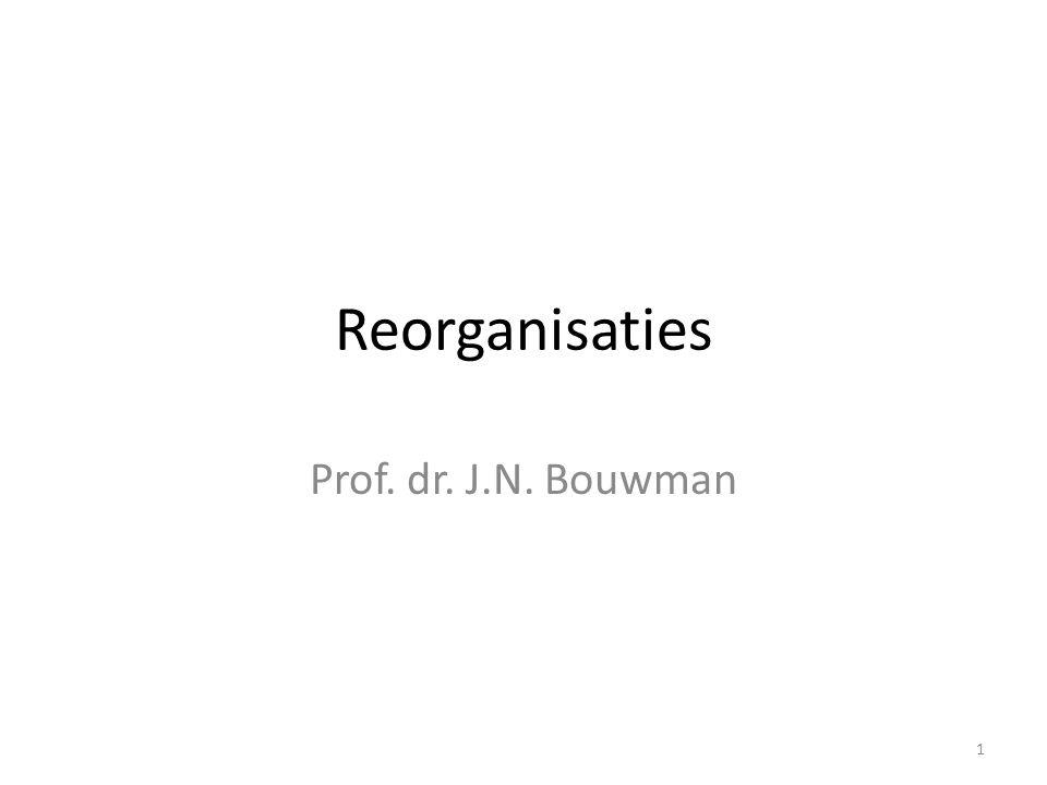 1 Reorganisaties Prof. dr. J.N. Bouwman