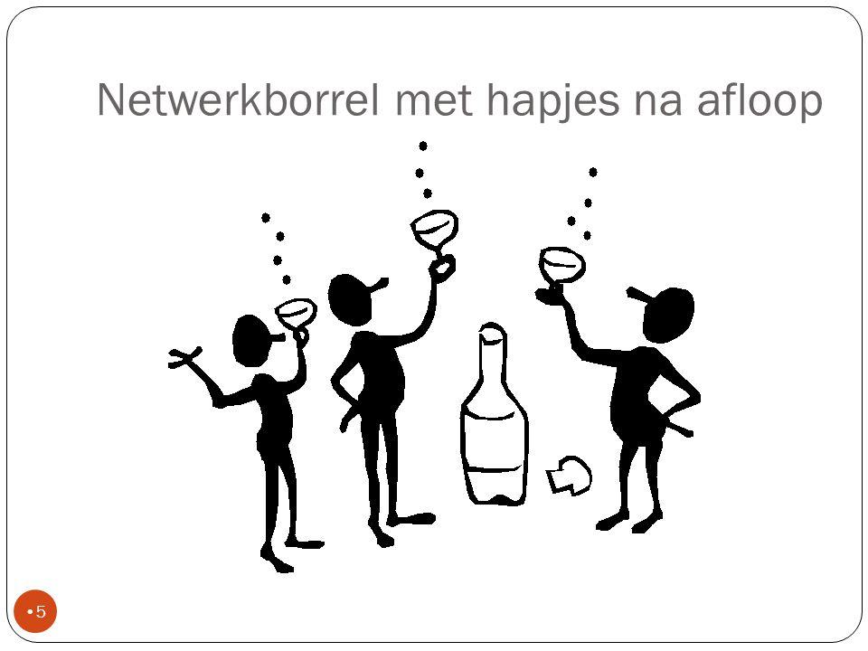Netwerkborrel met hapjes na afloop 5