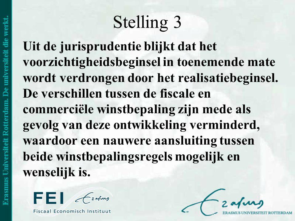Stelling 3 Uit de jurisprudentie blijkt dat het voorzichtigheidsbeginsel in toenemende mate wordt verdrongen door het realisatiebeginsel. De verschill